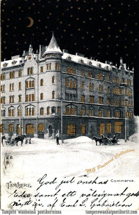 Commercen talo, joulukortti 1903